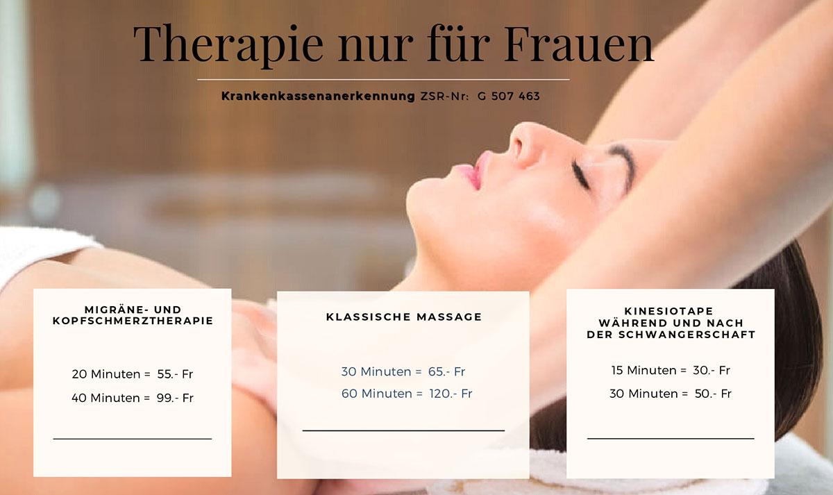 Preise Therapien Swiss Baby Spa